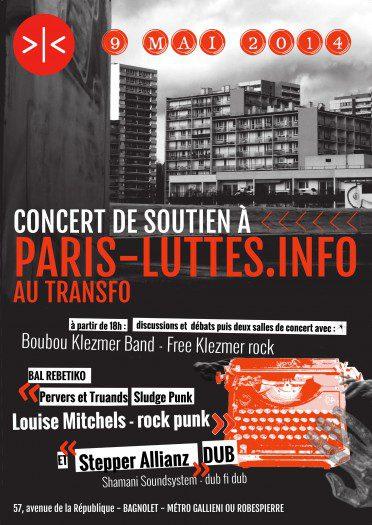 Soirée de soutien à Paris-Luttes.info