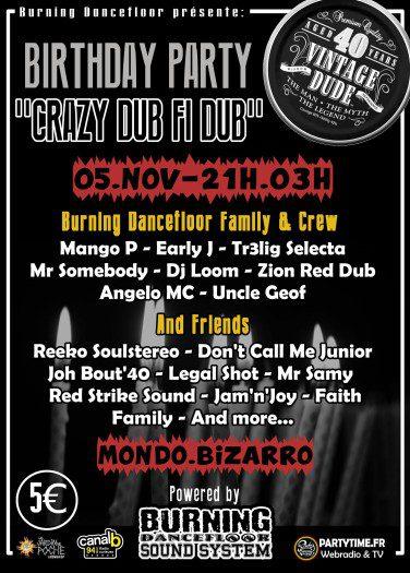 Crazy Dub Fi Dub Birthday Party