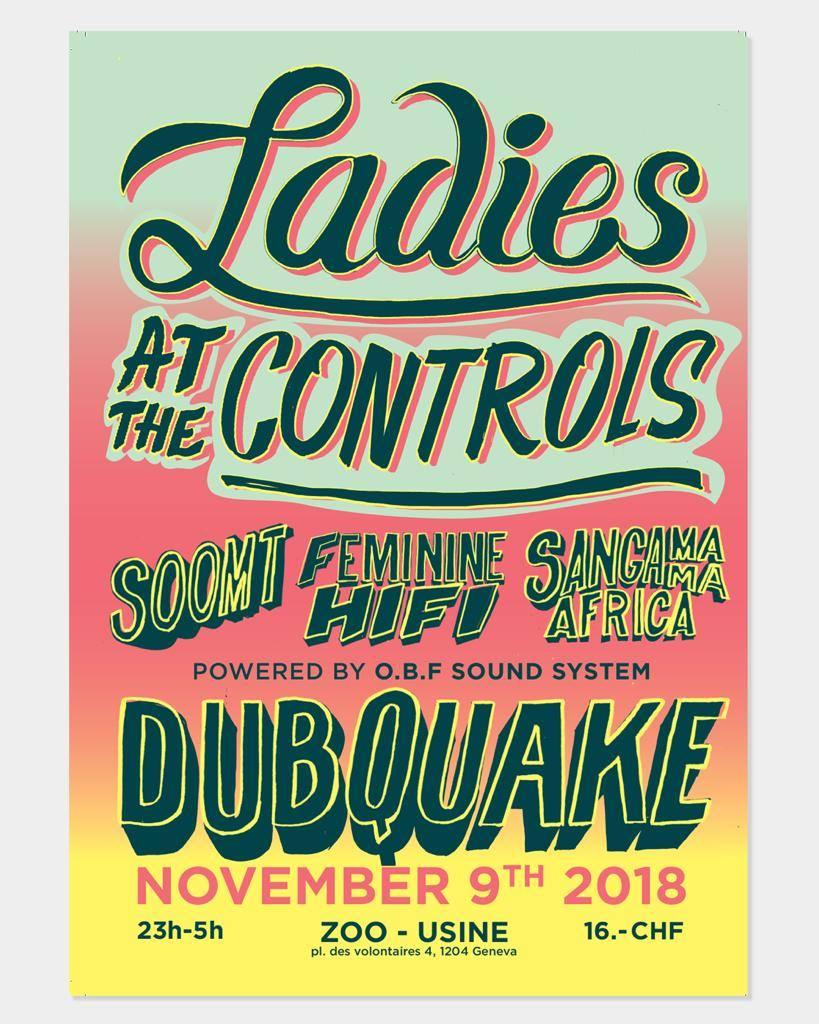 Dubquake Ladies at the control