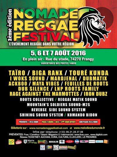 Nomade Reggae festival 2016