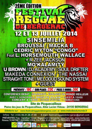 Festival Reggae de Bergerac 2014