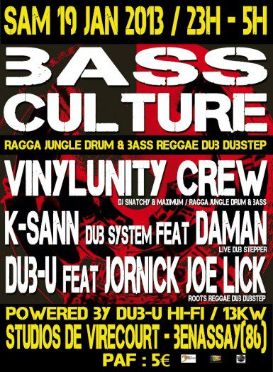 Bass Culture - Studios de Virecourt - Dub-U