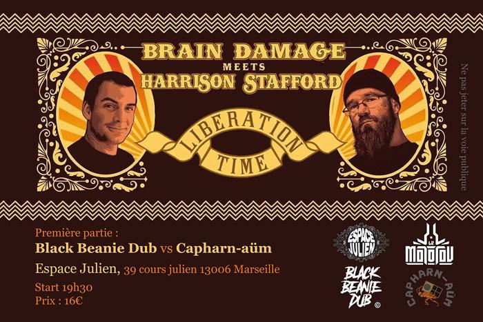 Brain Damage meets Harrison Stafford + Black Beanie Dub vs Capharn-Aüm