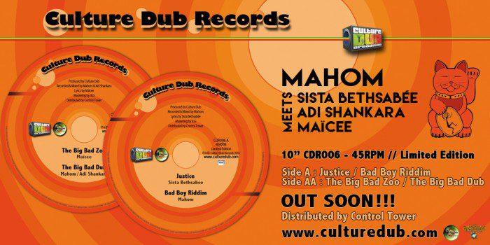 """10"""" Culture Dub Records CDR006"""