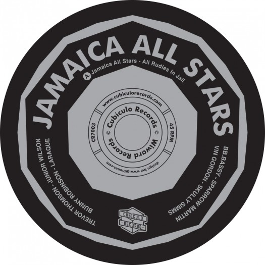"""Jamaica All Stars - All Rudies In Jail / Rudies Sparrow's Piano - 7"""" Cubiculo Records"""
