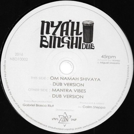 Calim Steppa - 10inch Nyahbinghi Dub NBD1002