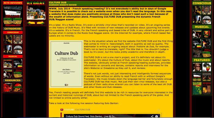 Culture Dub - Dubroom.org