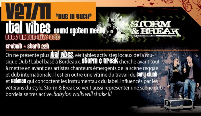 Ital Vibes Sound System meet Storm and Break