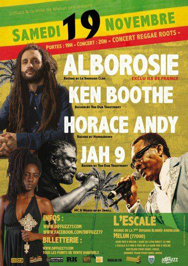Alborosie + Ken Boothe + Horace Andy + Jah 9