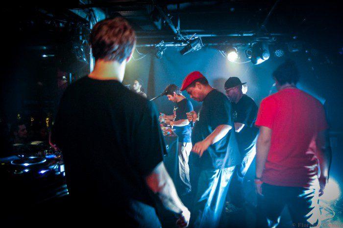 Skank Lab #6 - Dub Fi Dub -De gauche à droite : Iron Dubz - Toinou - Troy Berkley - Mr Samy - Joris