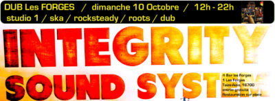 Dub les Forges – Integrity Sound System