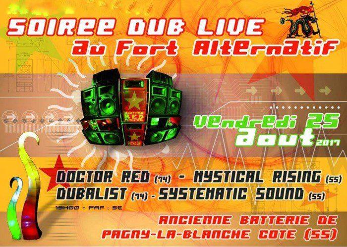 Soirée Dub Live au Fort Alternatif