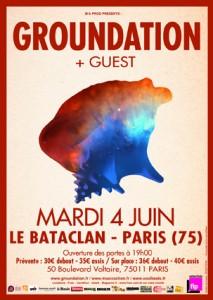 Groundation au Bataclan le 04/06/13 - Affiche