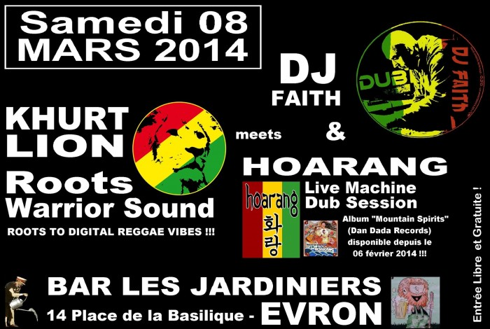 Khurt Lion (Roots Warrior Sound) meets DJ Faith & Hoarang