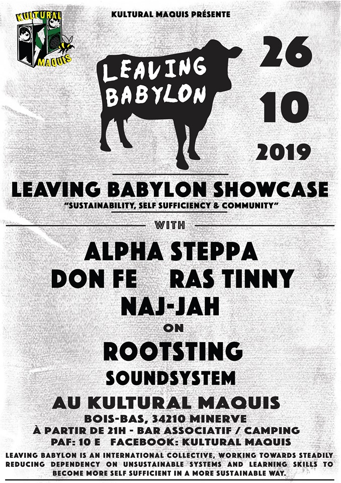 Culture Dub 20 Years, Bux' In Dub #4 – Part 1 Sound System – La Rotative Buxerolles (86) – 12 Octobre 2019