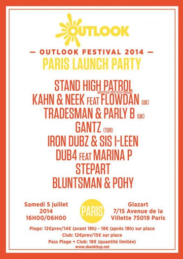 Outlook Festival 2014 - Paris Launch Party