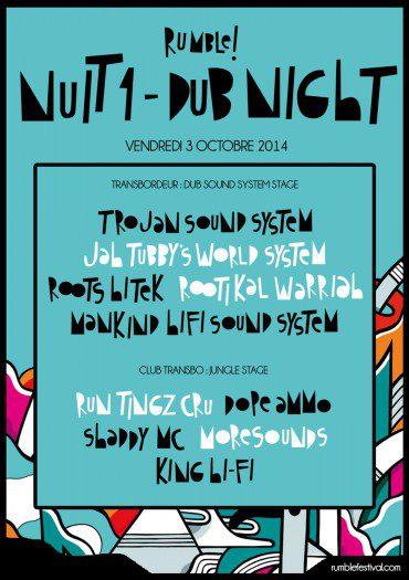RUMBLE FESTIVAL – NUIT 1 – DUB NIGHT