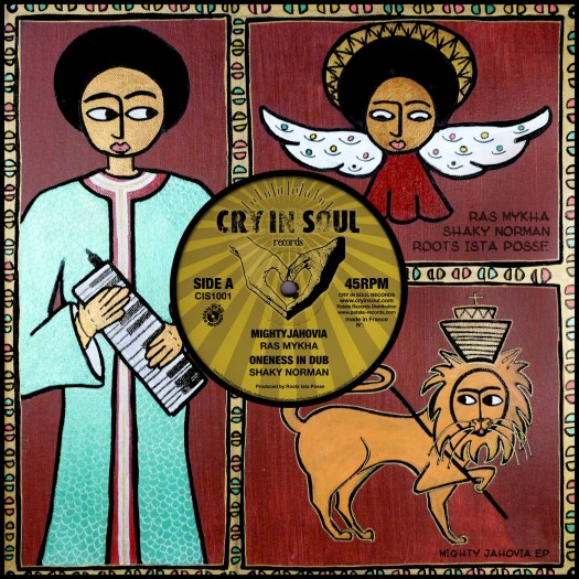 "Ras Mykha, Shaky Norman & Roots Ista Posse - 10"" Cry'In Soul Records"
