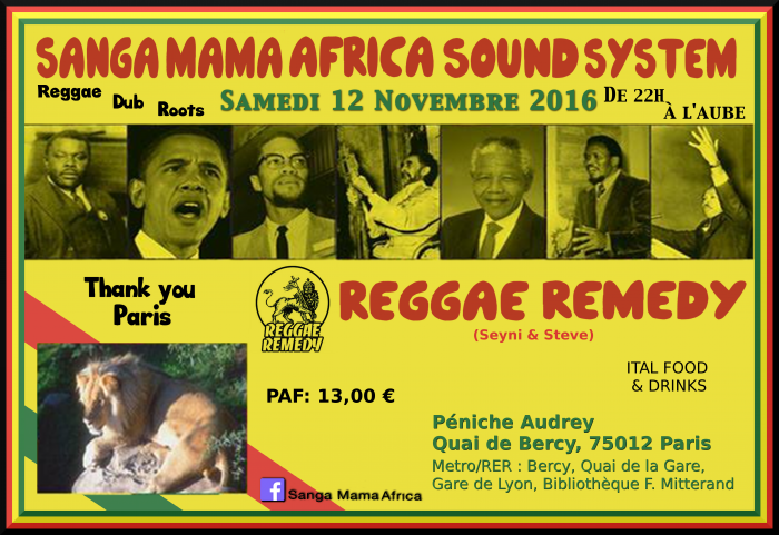 Sanga Mama Africa Sound System & Reggae Remedy