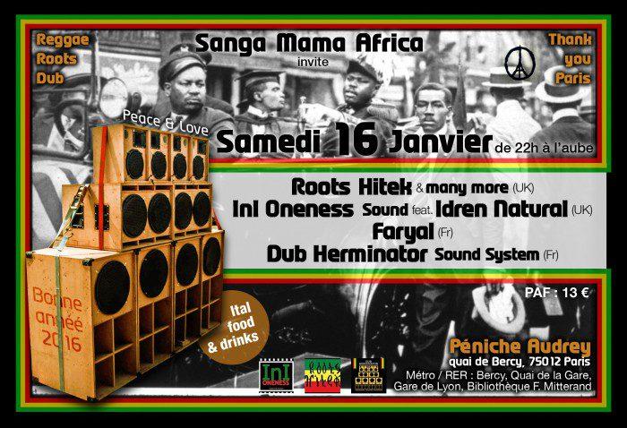 Sanga Mama Africa + Roots Hitek + InI Oneness Sound feat Idren Natural + Faryal + Dub Herminator