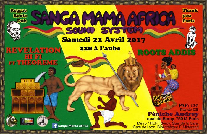 Sanga Mama Africa + Roots Addis + Revelation Hi-Fi