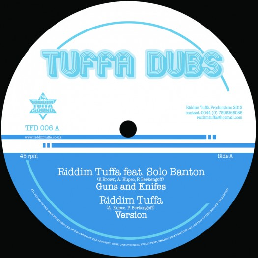 "Riddim Tuffa - 12"" Tuffa Dubs Records - TFD006 A - Solo Banton, Diegojah, OBF"