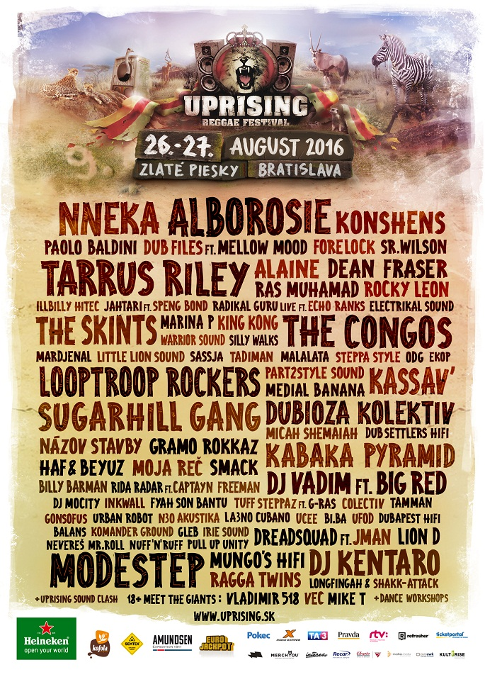 Uprising Reggae Festival - Bratislava (SVK) - 26 au 27 août 2016
