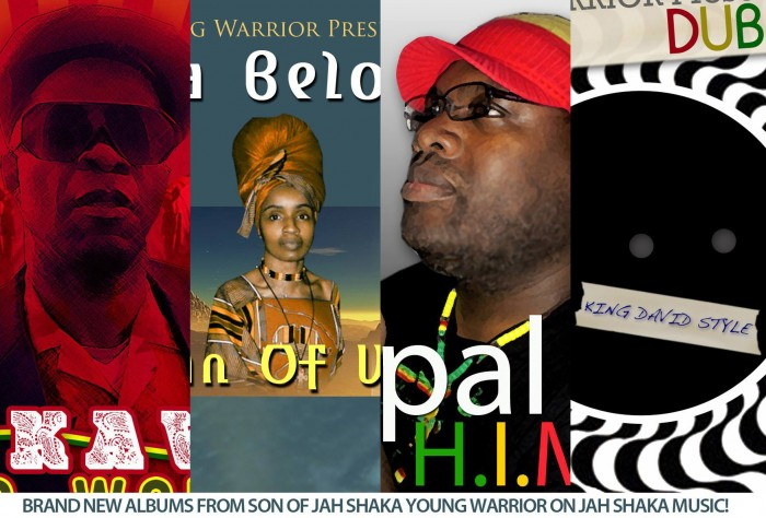 Young Warrior - 4 Brand New Albums - Jah Shaka Music