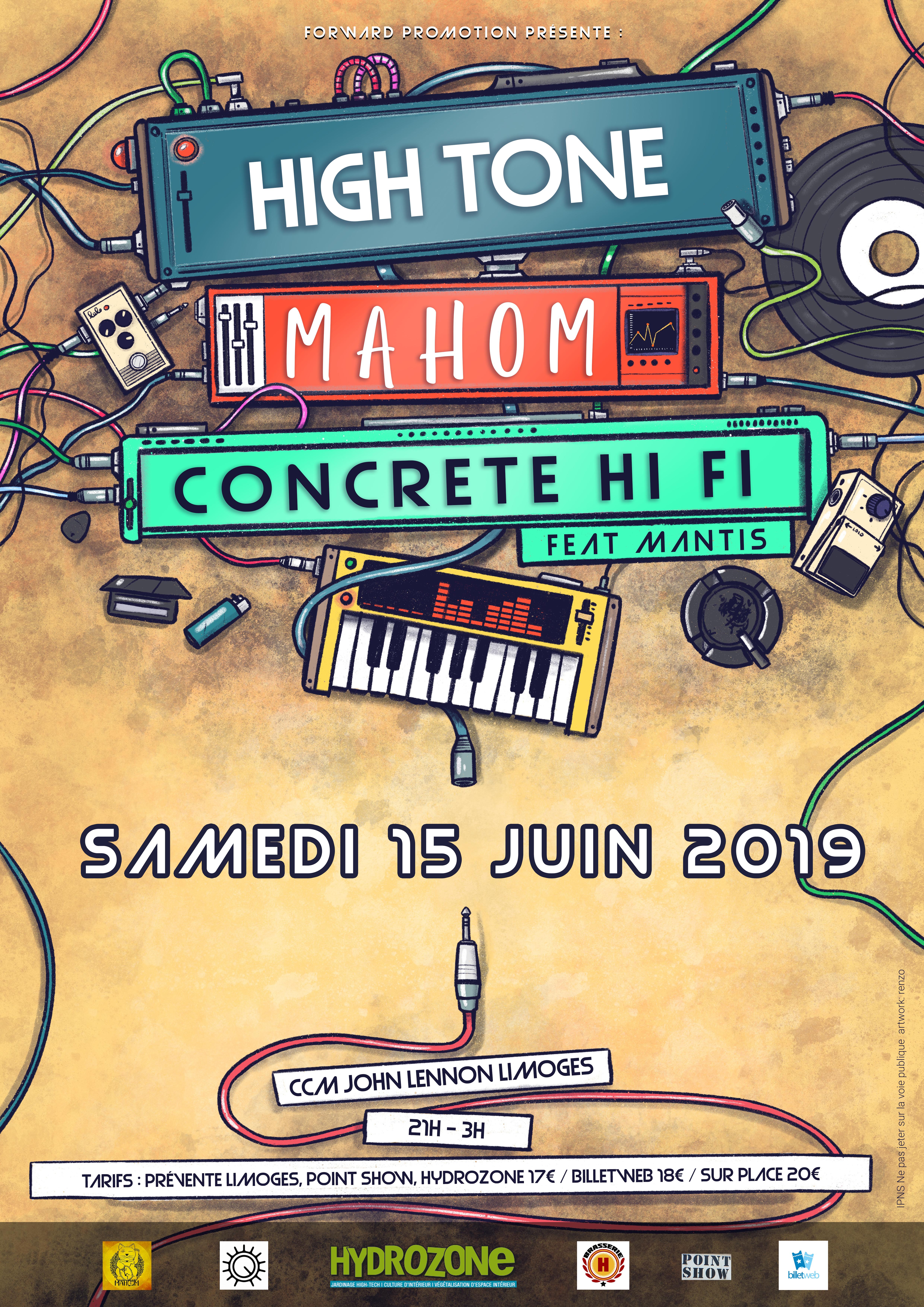 High tone / Mahom / Concrete Hi-fi feat Mantis
