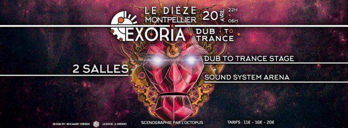 Exoria – Dub to Trance @ Montpellier