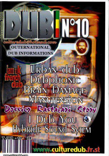 Culture Dub n°10 page 1 Couverture n°10 Décembre 2003