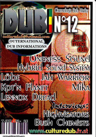 Culture Dub n°12 page 1 Couverture n°12 Juin 2004