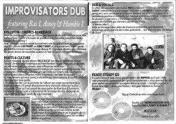 """Culture Dub n°14 pages 12-13 Improvisators Dub feat Ras I, Asney & Humble 8 """"W.I.C.K.E.D"""""""
