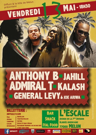 Anthony B + Admiral T + Kalash + General Levy + Jahill