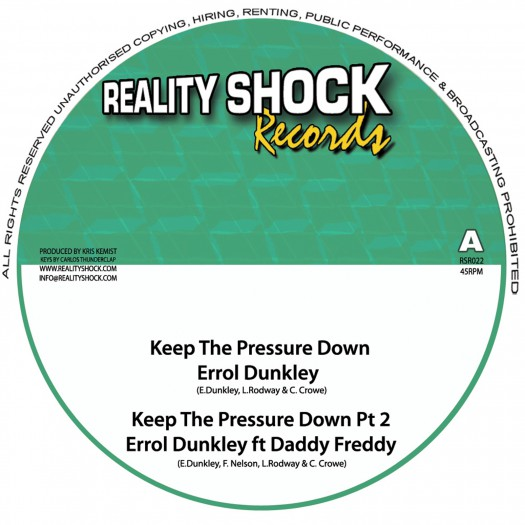 """Errol Dunkley, Daddy Freddy & Solo Banton - 10"""" Reality Shock Records"""