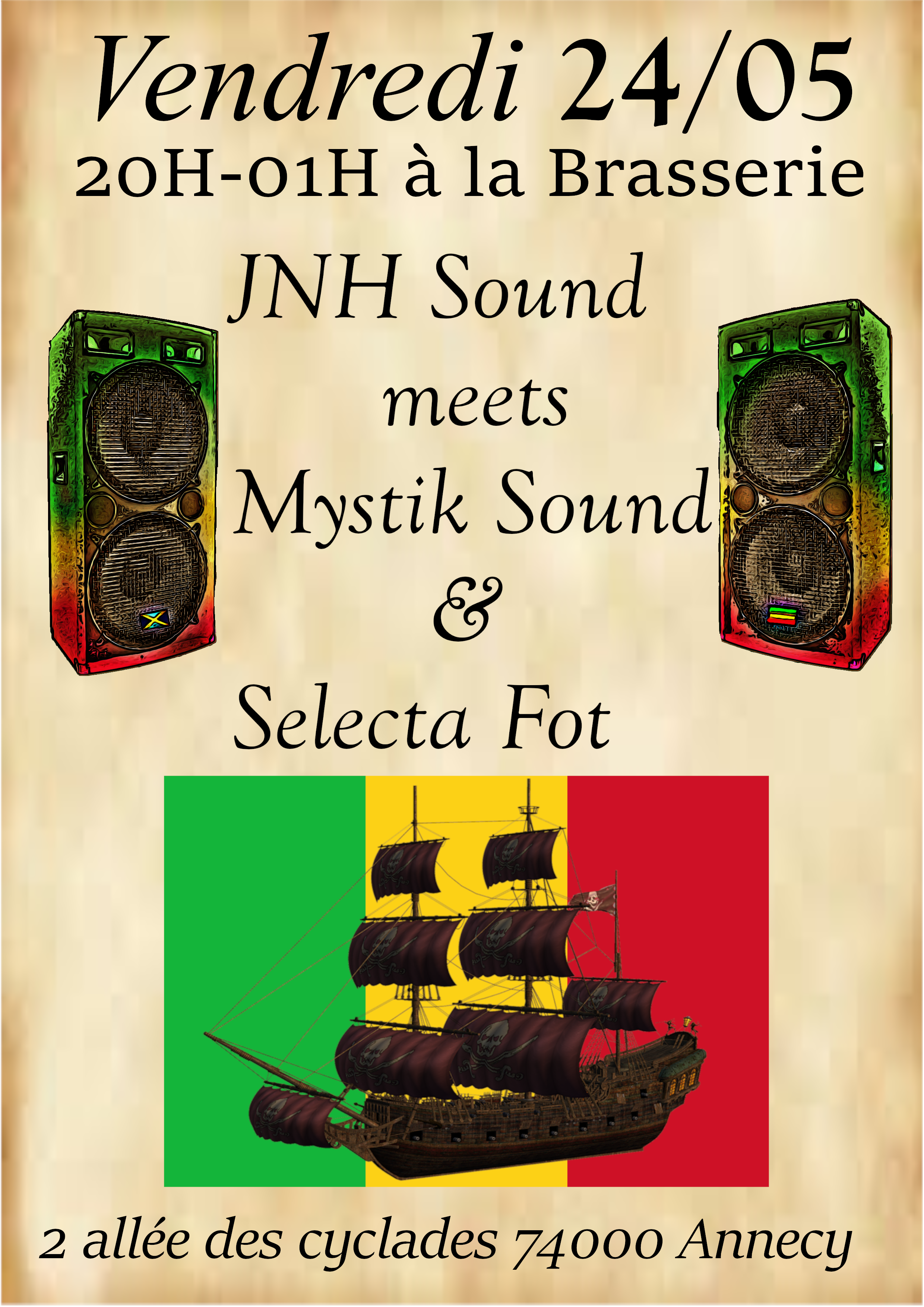 Brasserie Pirate & Sound system