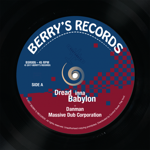 "Massive Dub Corporation feat. Danman - 7"" Berry's Records BSR005"