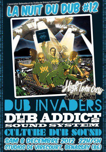 La Nuit du Dub 12 Studios de Virecourt Dub Invaders Dub Addict Sound System