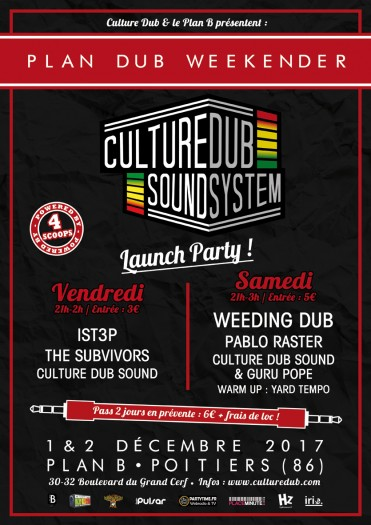 Plan Dub Weekender – Culture Dub Sound System Launch Party