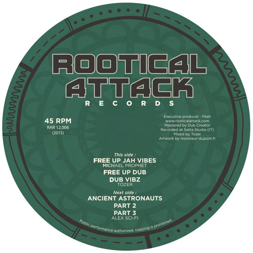 "Michael Prophet & Tozer/ Alex Sci-Fi - 12"" Rootical Attack"