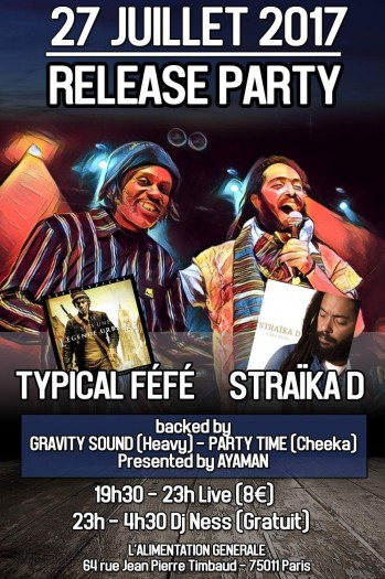 Release Party Straika D + Typical Féfe + Gravity Sound + Party Time Sound