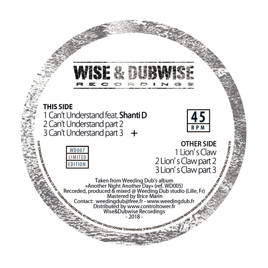 Weeding Dub – 12″ Wise & Dubwise Recordings WD007